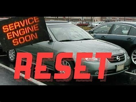 2005 nissan altima light reset how to reset service engine soon light on a 2005 nissan