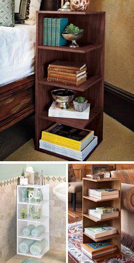corner bookshelves end tables and bookshelves on