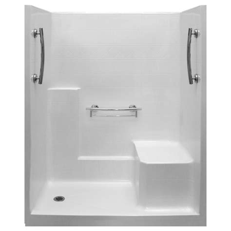 One Shower Stall With Seat by Imperial 60 X 32 One Low Threshold Shower Stall