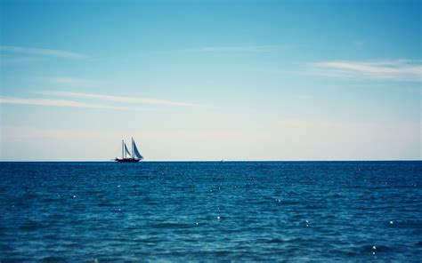 sailing boat in the sea top 20 ship sailing over the horizon of the blue sea