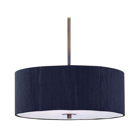light expressions by shaw chandelier with black drum shade murren 5 light