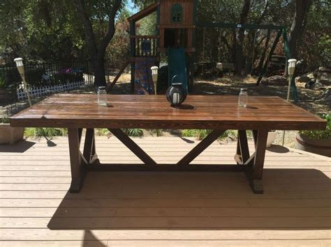 large outdoor diy large outdoor dining table seats 10 12 hometalk