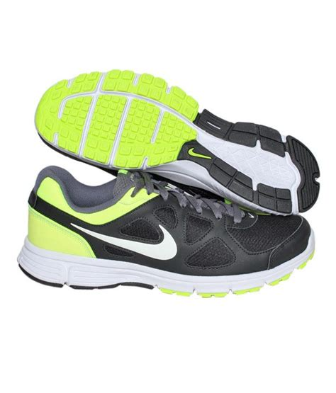 nike running shoes lime green buy nike revolution black lime green running shoes for