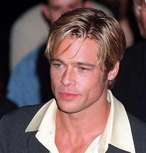 brad pitt decides to grow out forehead hair brad pitt what is the best men s hair style in the world vote here