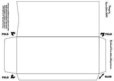 Double Diamond Fold Envelope Template   CUP145552 168   Craftsuprint