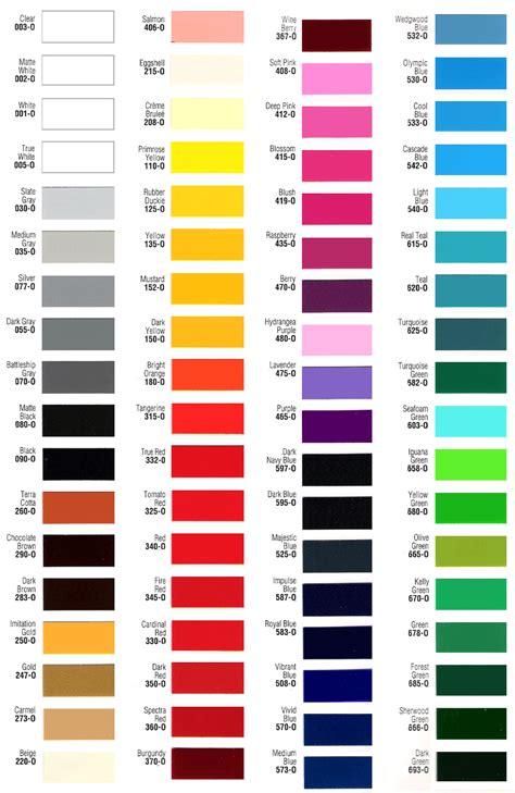 car color chart