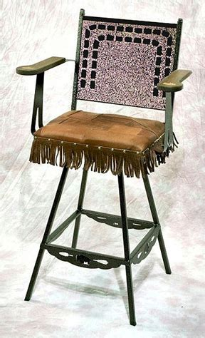 Leather Weave Bar Stools by Weave Leather Swivel Bar Stool