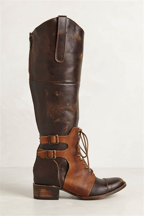 thoroughbred boots lyst freebird by steven thoroughbred boots in brown