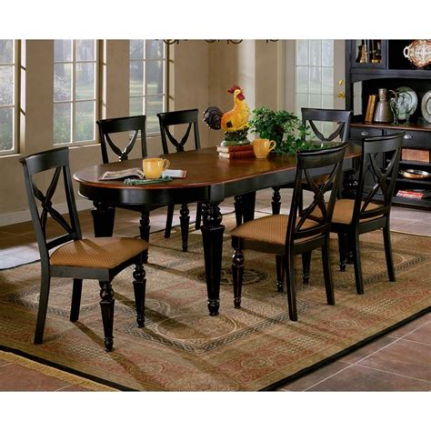 northern heights 5 oval dining table set in black