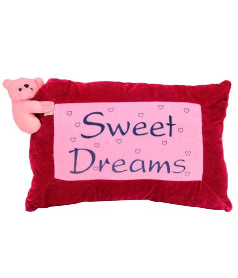 Sweet Dreams Pillow by Shopcrazzy Pink Sweet Dreams Pillow For Buy