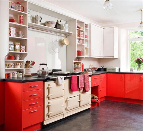 desain dapur modern warna merah rancangan desain rumah minimalis