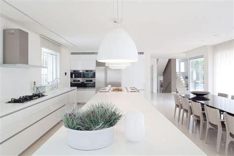 white home interior design white interior design in modern sea shell home israel