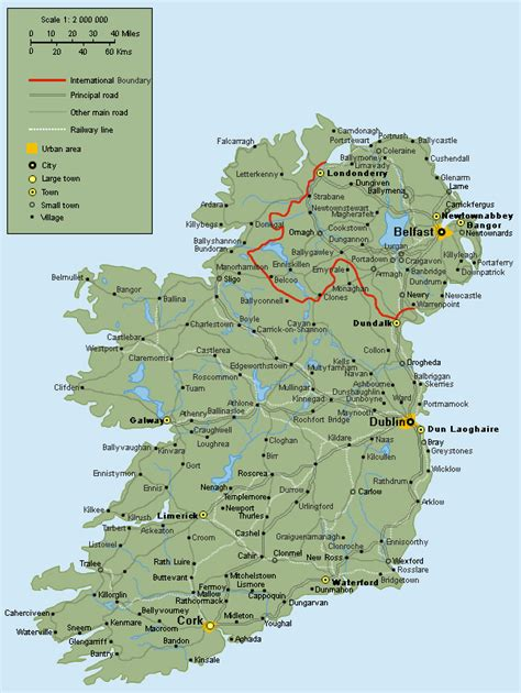 printable road maps ireland full road map of ireland ireland full road map vidiani