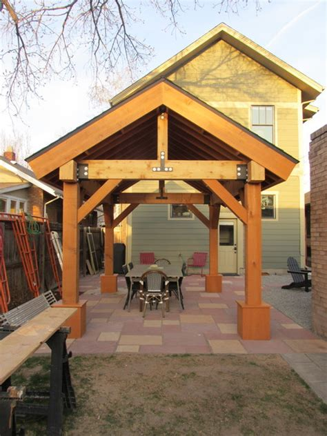 outdoor living space patio cover pergola cedar post