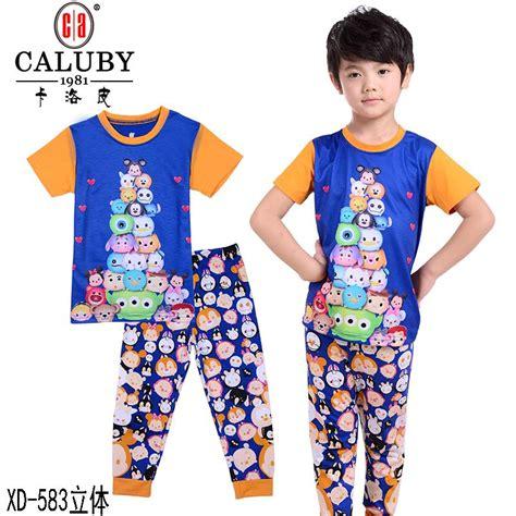 Pajama Ae V219 Tsum Tsum child boys tsum tsum clothing set pajamas cotton