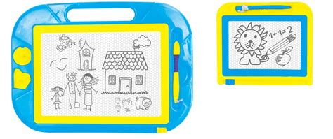 doodle board just kidz 2 pack doodle board blue yellow shop your