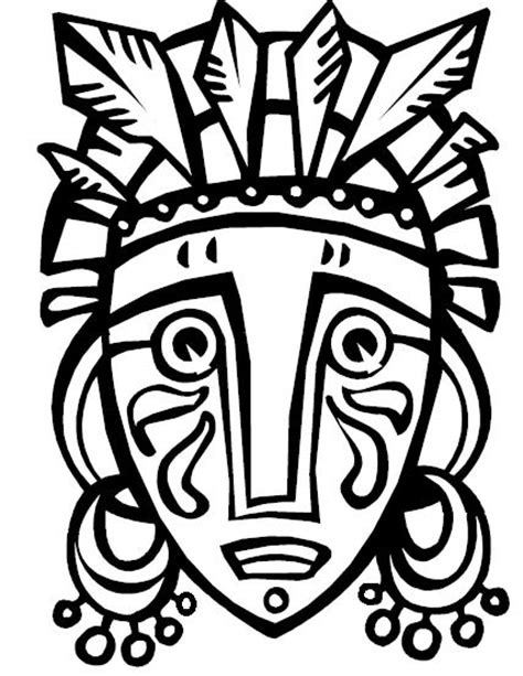 printable african mask template african tribal mask template african mask from coloring