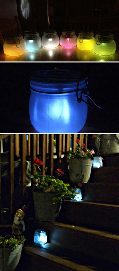 cool  easy diy ideas  display  solar lighting