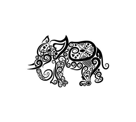 elephant tattoo clipart the 25 best ideas about tribal elephant tattoos on