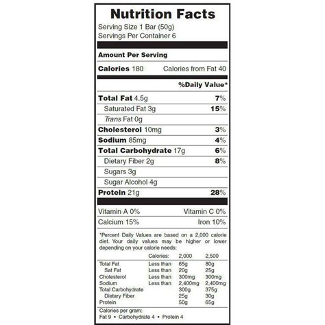 b protein nutrition facts protein bar nutrition facts nutrition ftempo