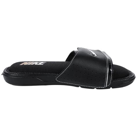 nike comfort slide 2 mens sandals nike comfort 2 men s slide sandals black black silver