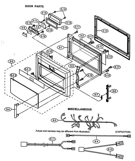 sharp microwave parts diagram door parts diagram parts list for model r630dwa sharp