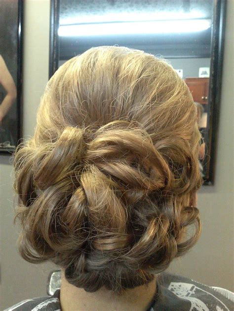elegant hairstyles bump flower bun formal style wedding prom hair updo with bump