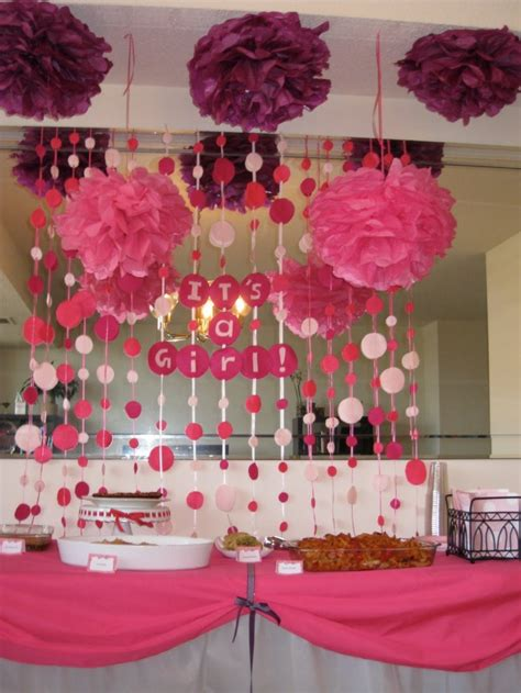 ideas for baby shower for pink baby shower decorating designs