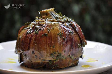 cucinare i carciofi romaneschi ricetta carciofi alla romana le ricette dello spicchio