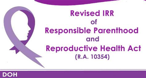 revised implementing rules  regulations irr   responsible parenthood  reproductive