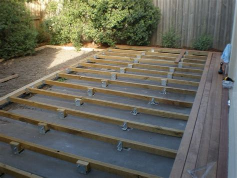 building a backyard deck deck over concrete slab for the home pinterest the o