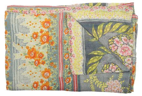 Kantha Quilt by Vintage Kantha Quilt Swan