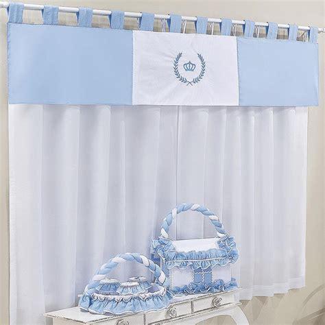 cortina de bebe cortina quarto de beb 234 pr 237 ncipe duque azul essencial