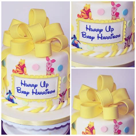 winnie the pooh cake baby shower winnie the pooh baby shower cake letty