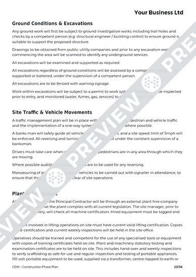 Cdm Construction Phase Plan Template by Construction Phase Plan Cdm Template Haspod