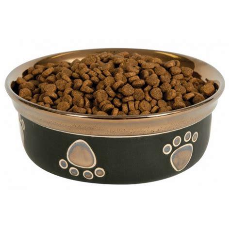 fashion pet ritz copper rim dog dish black dog bowls