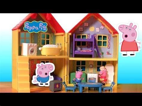 peppa pig play house play doh peppa pig peek n surprise playhouse playset la grande casa de cerdita peppa