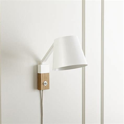 Crate And Barrel Wall Sconce Jax White Sconce Crate And Barrel 99 Guest Em Bathrooms Sconces Crate And