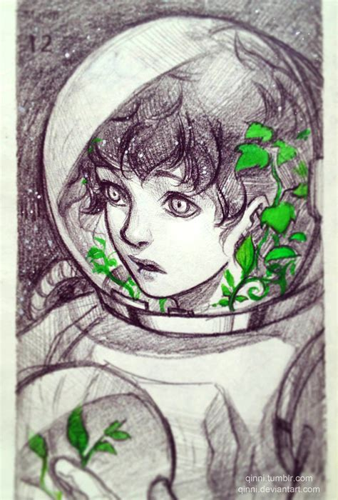 qinni sketchbook astronaut by qinni on deviantart