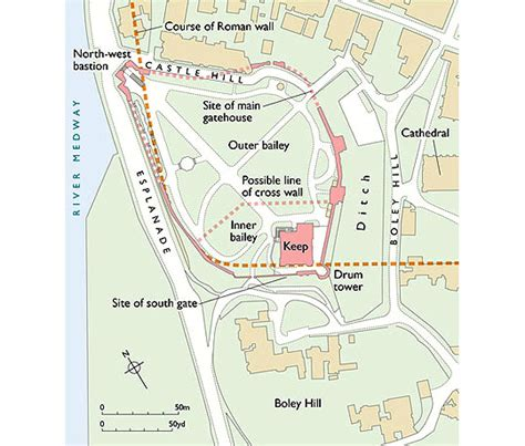 Floor Plan Flat description of rochester castle english heritage