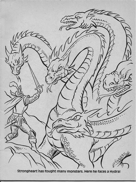 advanced dungeons dragons characters coloring book 1983