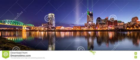 blue hour in nashville stock photo image 74457321