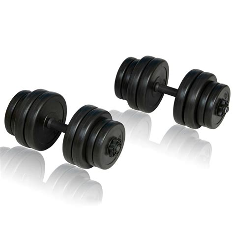 Dumbel Barbel vidaxl co uk folding weight bench dumbbell barbell set home