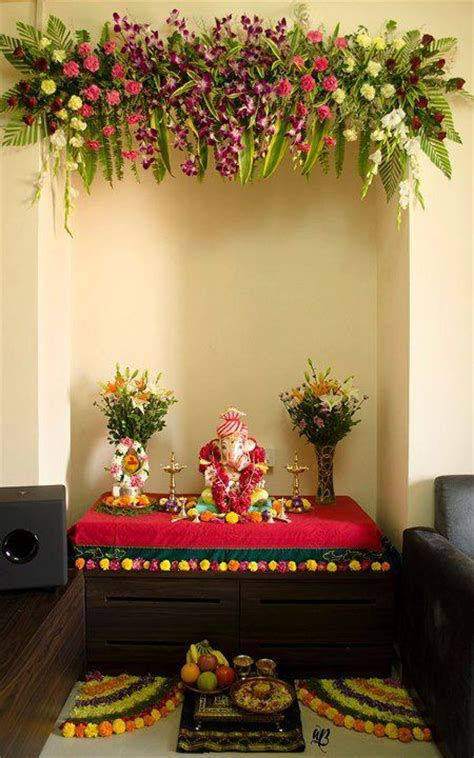 Decoration For Ganesh Festival At Home 17 Best Images About Pooja Room Design On Hindus You Deserve And India
