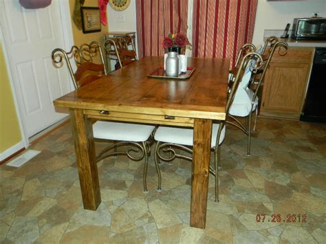 mac s farmhouse style kitchen table the wood whisperer
