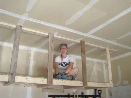 Garage Overhead Storage Ideas How To Make Wood Joints Wood Shelving Designs