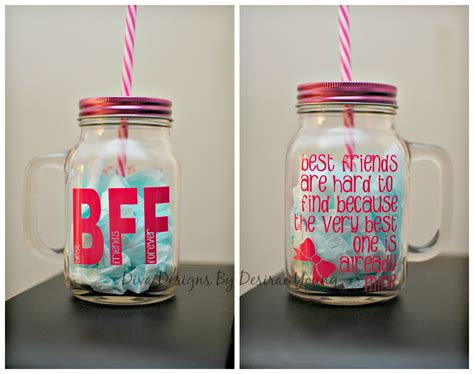 custom best friend jars silhouette vinyl crafts