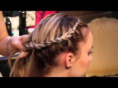 hairstyles for foreheads that stick out on a how to do an around the head braid youtube
