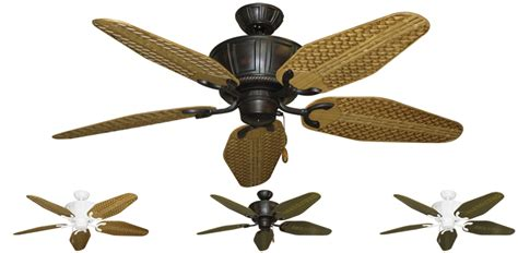 Outdoor Ceiling Fans Tropical Design by 52 Inch Centurion Outdoor Tropical Ceiling Fan Weave Blades