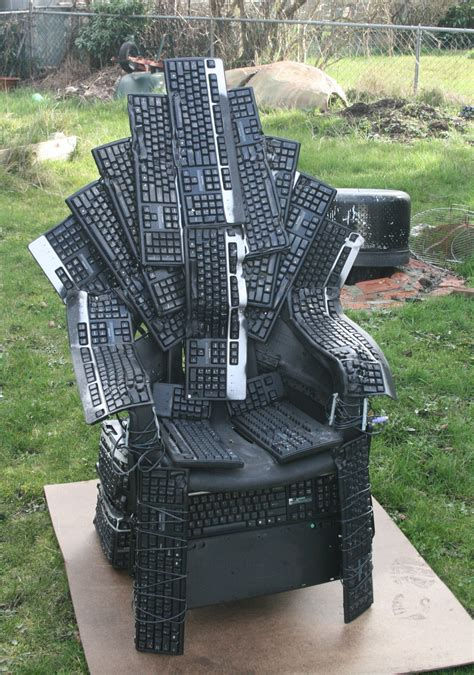 Iron Throne Desk Chair by Throne Of Nerds Of Thrones Tribute Made From